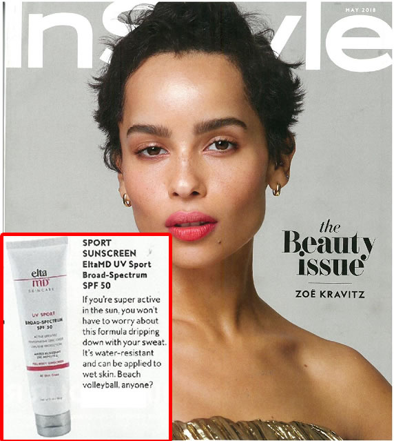 EltaMD UV Sport Broad-Spectrum SPF 50 as seen in InStyle