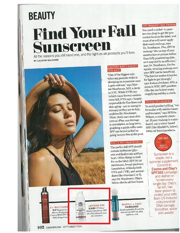 EltaMD UV Clear Broad-Spectrum SPF 46 as seen in Cosmopolitan