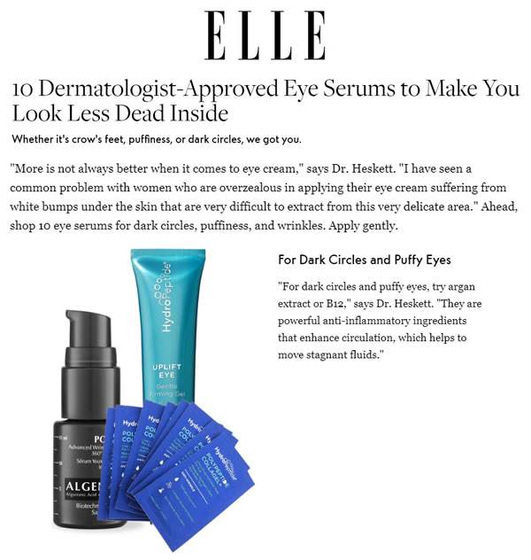 HydroPeptide Uplift Eye Gentle Firming Gel as seen in Elle