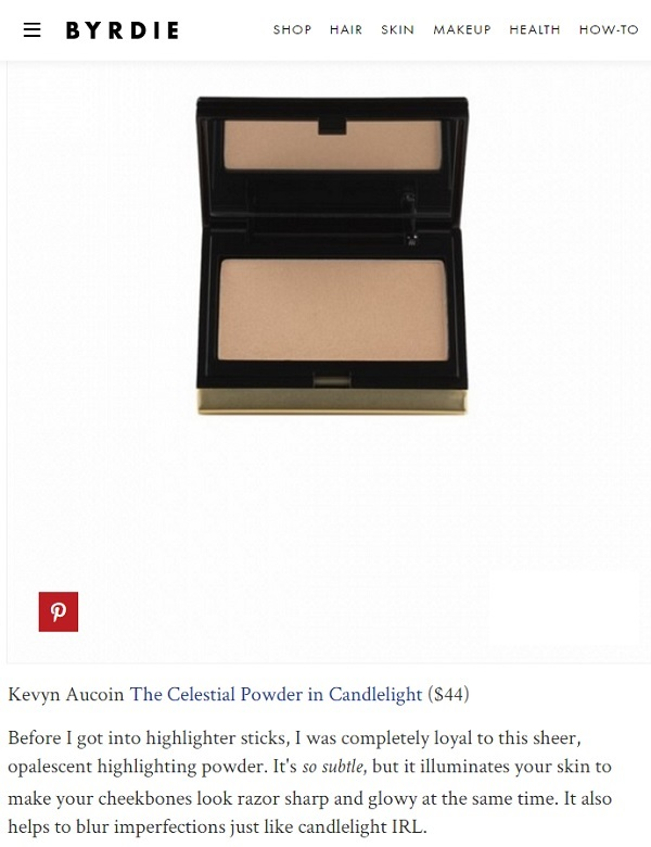 Kevyn Aucoin The Celestial Powde as seen on Byrdie