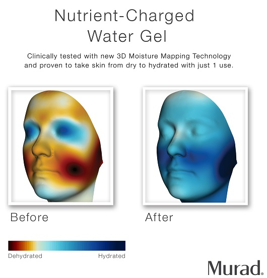 Murad Nutrient-Charged Water Gel Before & After
