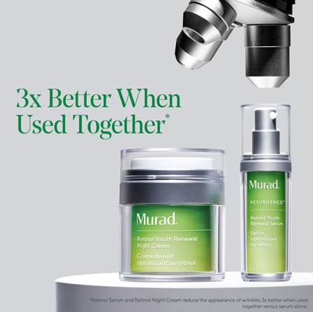 Murad Youth Renewal Night Cream and Serum 3X Better When Used Together