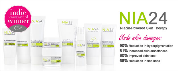 NIA24 features innovative Pro-Niacin, which effectively repairs and rejuvenates the skin, while providing the ultimate sun protection.