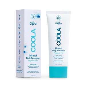 COOLA Mineral Body Organic Sunscreen Lotion Broad Spectrum SPF 30 [Travel Size] (3.4 fl oz / 100 ml) (All Varieties)